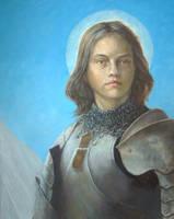 Joan Of Arc Portrait WIP by Entar0178