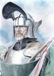 Knight Watercolour Portrait by Entar0178