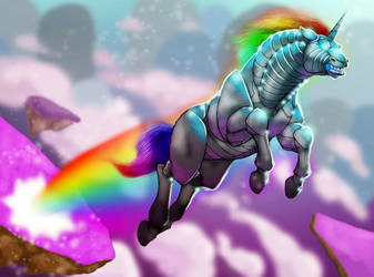 Robot Unicorn Revamp by Leafyful