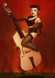 Psychobilly Girl From Hell by PapaNinja