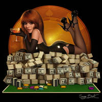 Poker Pin up 1 by PapaNinja