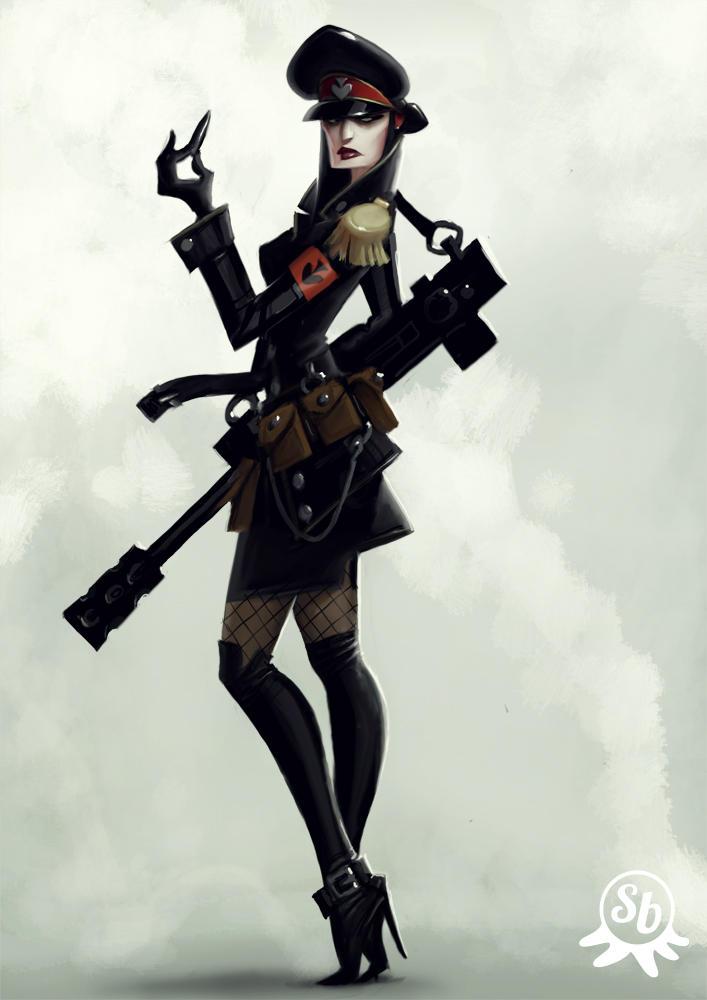 Bad girl concept by PapaNinja