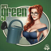 Mrs Green logo by PapaNinja