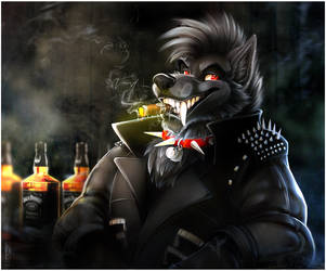 Commission: BlackFang by Synthucard