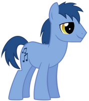 Blues background pony by The-Smiling-Pony