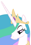 Unimpressed Celestia by The-Smiling-Pony