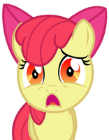 Apple Bloom has seen some things by The-Smiling-Pony