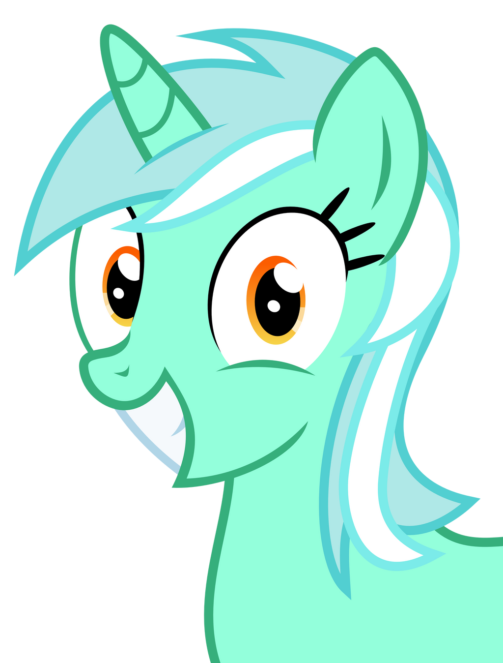 Overly happy Lyra by The-Smiling-Pony