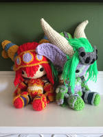 Alexstrasza and Ysera - World of Warcraft by GamerKirei