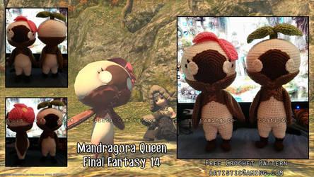 FFXIV - Mandragora Queen - Free Crochet Pattern by GamerKirei