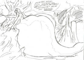 Enormous Echidna by SpottedAlienMonster