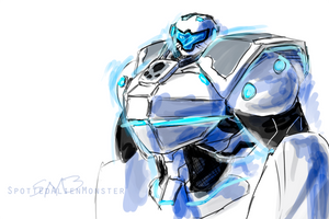Doodle - Metroid FF Blue by SpottedAlienMonster