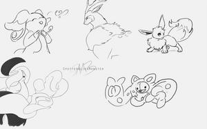 Doodles - Poke asks by SpottedAlienMonster