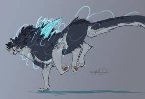 Lightning Beast Character 02 by SpottedAlienMonster