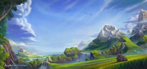 Fantasy Landscape by joeypoolart