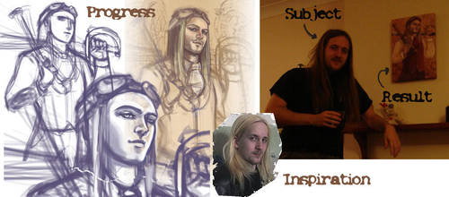 steampunk portrait progress by ArcadiaRonin