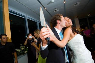 hitchcockesque wedding by zort