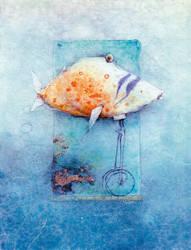 Fish on wheel 'Fischradler' by anubis46