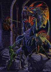 Behir Battle by MatesLaurentiu