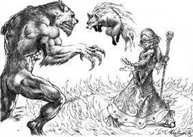 Darro vs Werewolf by MatesLaurentiu