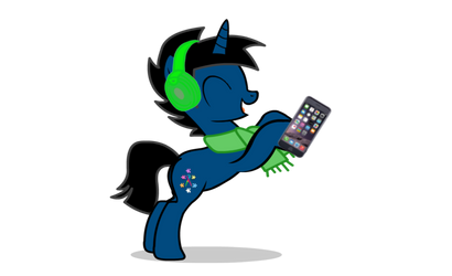 AJ listening to music-Vector by RobertWho