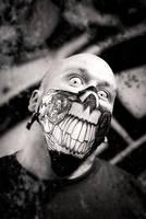 Teeth and Rose Biker Mask by OsborneArts