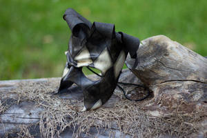 Distressed Jester Leather Mask by OsborneArts