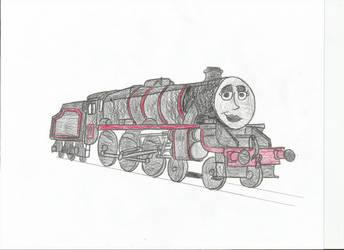 TTTE-Karen the Goth Engine by metalheadrailfan