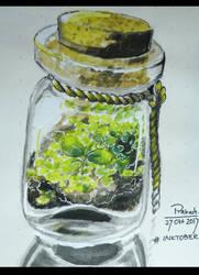 Ink (?) tober 2017 - Bottled Plants by CatSummoner