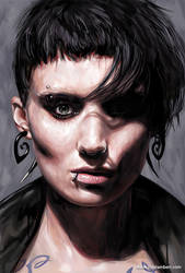LISBETH SALANDER - DIGITAL PORTRAIT by kyle-lambert