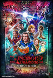 DUNGEONS AND DRAGONS - EVENT ADVERTISING ART by kyle-lambert