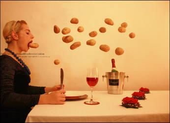 potato eater by TheBizarreBirdcage