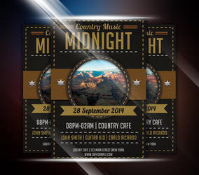 Coutry Music Event Flyer by afizs