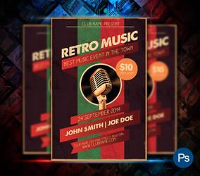 Retro Music Flyer by afizs
