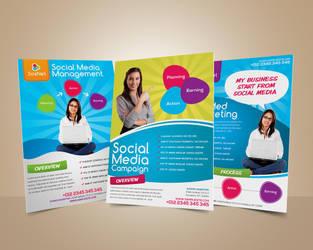 Social Media Marketing Flyer by afizs