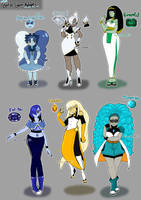 $10 Birthstone Gemsona Adopts [CLOSED] by azume-adopts