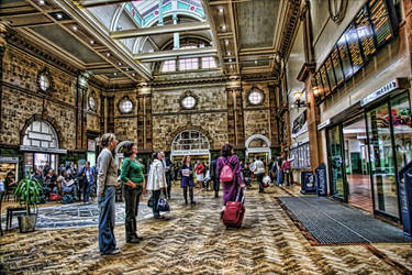 Nottingham Station People HDR by Melodysk