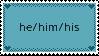 He/him/his pronoun stamp by b3anie