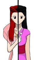 Yin-Yang: Dahlia and Iris by ammchan