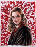 Hermione Granger *watercolour* by xxMagicGlowxx