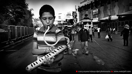 Musician in action by djati