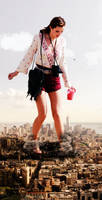 Giantess Bella Thorne by dochamps