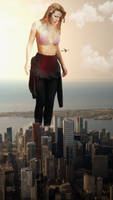 Giantess Bella Thorne Unexpected Growth by dochamps