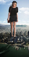 Giantess Towering Taylor by dochamps