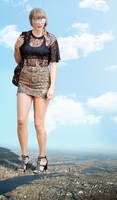 Giantess Taylor Swift Standing Tall by dochamps