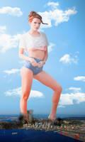 Mega Giantess Bella Thorne by dochamps