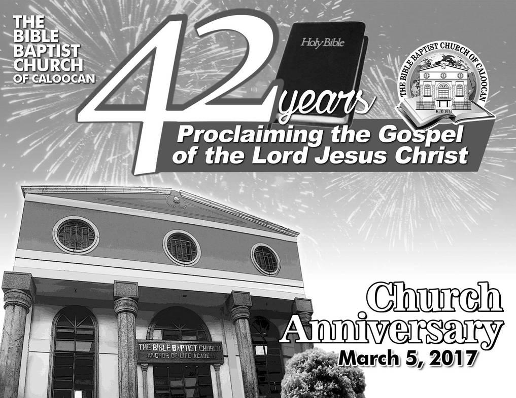 Tbbc 42nd Church Anniversary Invitation Card By Iamphotogabier On