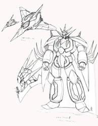 Neo Getter Dragun Shogun Warrior Design Front by glane21