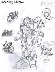 Robotech Cyclone Ride Armor VR-060-S Design by glane21