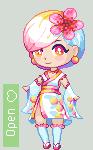 Adopt #10: Peach Kimono Girl [OPEN] by UwU-Adopts
